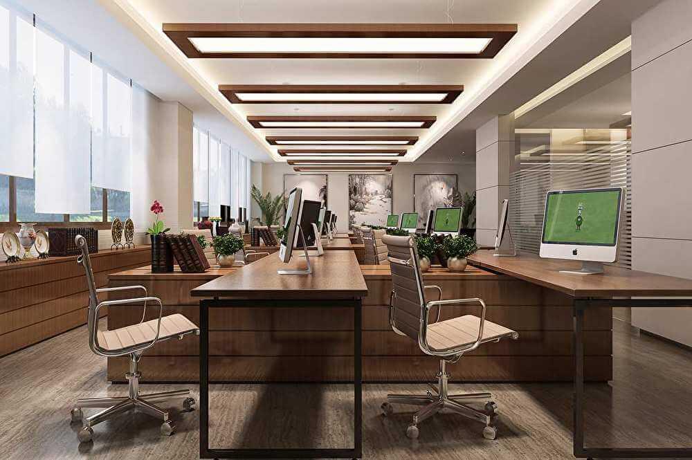 珠海办公室中式风格装修案例赏析