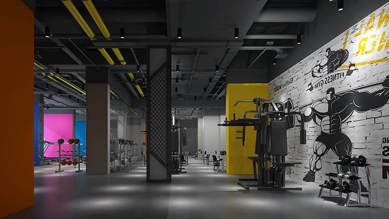珠海金湾健身房效果图装修案例